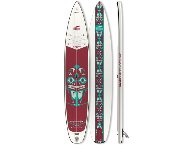 Indiana SUP 16'0 Touring LTD Tandem Inflatable Sup white/red